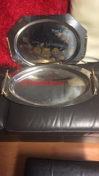 Stainless steel serving platters made in Italy