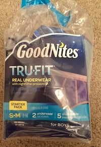GoodNites Tru-Fit Real Underwear with Nighttime Protection Starter Pack for Boys, Small and Medium, 2 Underwear and 5 Disposable Inserts Indianapolis, 46224