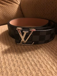 black and brown Louis Vuitton leather belt Rockville, 20852