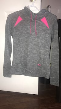 New heathered grey and pink under armour sweater. Size Xsmall Barrie, L4M 6Z9