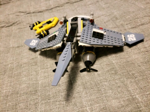 Lego Aircraft with Missle And Raft
