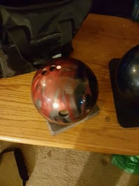 15 pound Bowling ball with bag