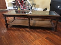Refinished Antique Coffee Table w Beveled Glass New Orleans, 70124