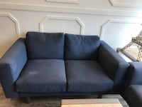 Navy fabric couch Toronto, M1W