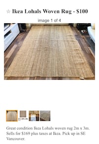 Ikea Lohals Woven Large Rug Vancouver, V5S 2X7