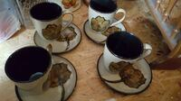 By Mikasa cups and saucer set  Crimora