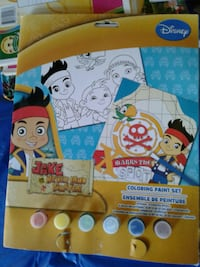Disney Jake never land coloring paint set