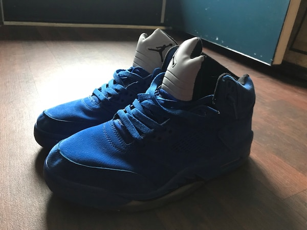 8a6e60ee346b Used Air Jordan s 5 blue for sale in Union City - letgo