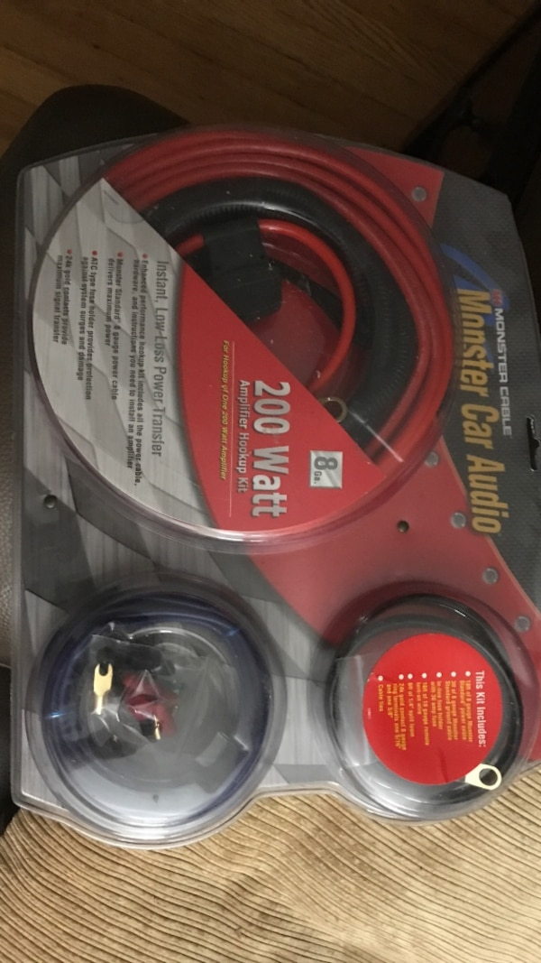 Miraculous Used Red And Black Monster Car Audio Monster Cable Pack For Sale In Wiring 101 Picalhutpaaxxcnl