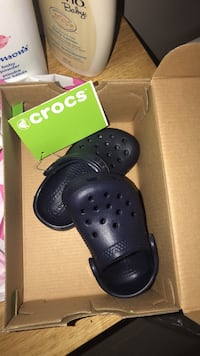 pair of black Crocs rubber clogs Vancouver, V6Z