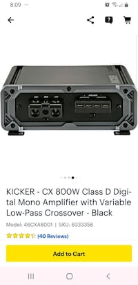 800w peak power amp