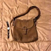Coach suede handbag in camel Arlington, 22213
