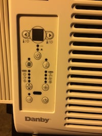 white Danby window type air conditioner null
