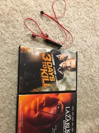 Two used DVD's and wireless headphones Boyds, 20841