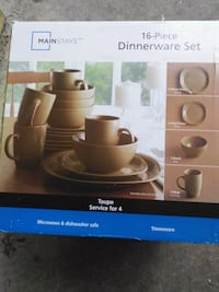 brown Mainstays 16-piece dinnerware set box Abbotsford, V2T 3R4