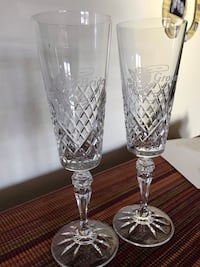 Bride and Groom Crystal Champagne Glasses Burtonsville, 20866
