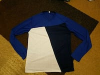 blue and black long-sleeved shirt Queens, 11415