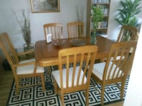 6 Chairs Dinning Room Table and Cabinet Harrison
