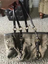 black and brown leather tote bag Kawartha Lakes, L0C 1G0
