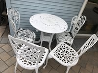 Cast iron table and chair garden white Rahway, 07065