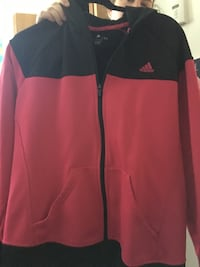 black and red zip-up jacket Coquitlam, V3K 6C4
