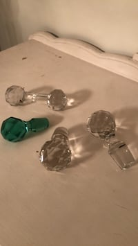 crystal decanter  and carving knife holder $10ea or $45 for lot Silver Spring, 20906