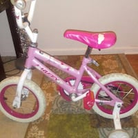toddler's pink and white bicycle with training whe Inkster, 48141