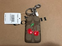 Brown and red coach keychain Toronto, M3N