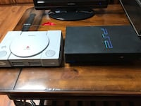 Play Station and PS2.  No games. One or two controllers.  No power cable for play station Woodstock, 30188