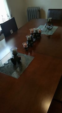 Brown wooden table with chairs $400 BO  Buffalo, 14213