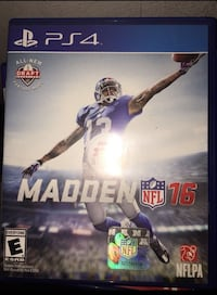 PS4 Madden NFL 16 game case Alexandria, 22309