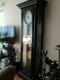 Grandfather clock with beveled glass