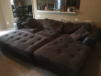 Brown leather tufted sectional sofa Pinellas Park, 33782