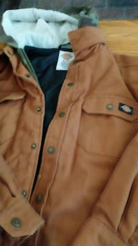 brown Dickies leather zip-up jacketboy 7 San Bernardino, 92410