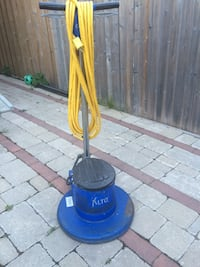 blue and black Alto floor polisher Toronto, M6M