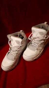 pair of white Air Jordan basketball shoes Winnipeg, R3A 0M7