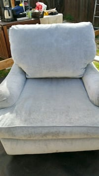 gray fabric sofa chair with ottoman Los Angeles, 90066
