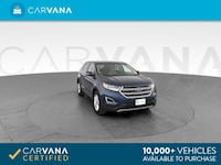 2017 *Ford* *Edge* SEL Sport Utility 4D suv Blue Chattanooga