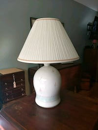 white ceramic base table lamp with white lampshade Woodbridge, 22192
