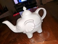 white ceramic elephant figurine table decor Albuquerque, 87120