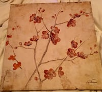 **Wall Art- Small Flower Canvas Picture Ventura, 93003