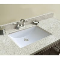 "49""W x 22""D Dune Cultured Granite Vanity Top with  Richmond Hill"