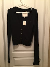 Abercrombie & Fitch Dark Blue Long Sleeve V-Neck Sweater Vancouver, V5R