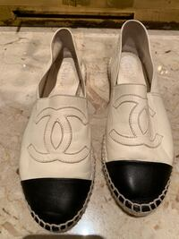 Authentic Chanel leather espadrille size 39 fits 7.5
