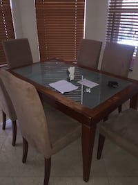 Dining room glass table
