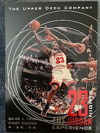 Michael Jordan oversized basketball card deluxe set Mint Condition.