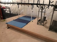 Gymnastics set: bar, beam, and mat. Brand new great condition  25 km