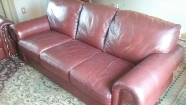 Used Divani Chateau D Ax Leather Sectional Sofa Couch For Sale In