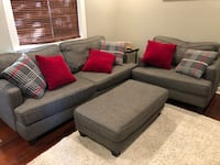3 piece couch set with custom made throw pillows Columbus, 43206