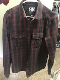 Fox long sleeve button up thick shirt Tigard, 97224